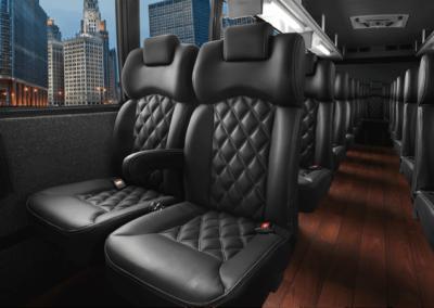 Leather Coach Bus Interior