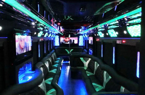 Interior 36 pax Limo Bus